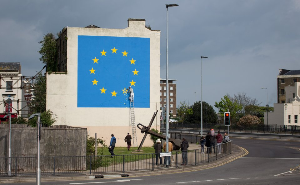Banksy artwork appears on Dover building