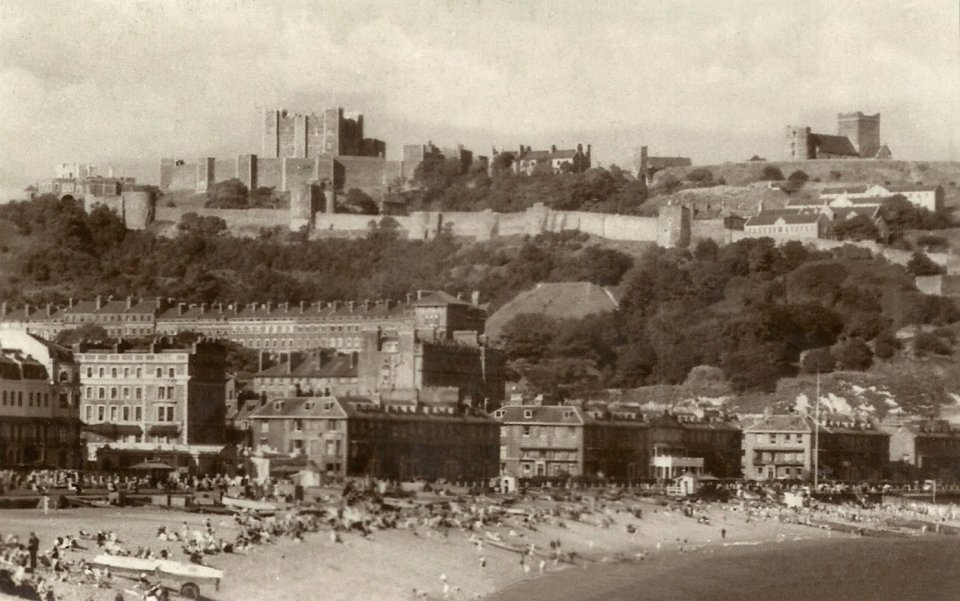 Dover Castle, Garrison Church , Pharos and seafront