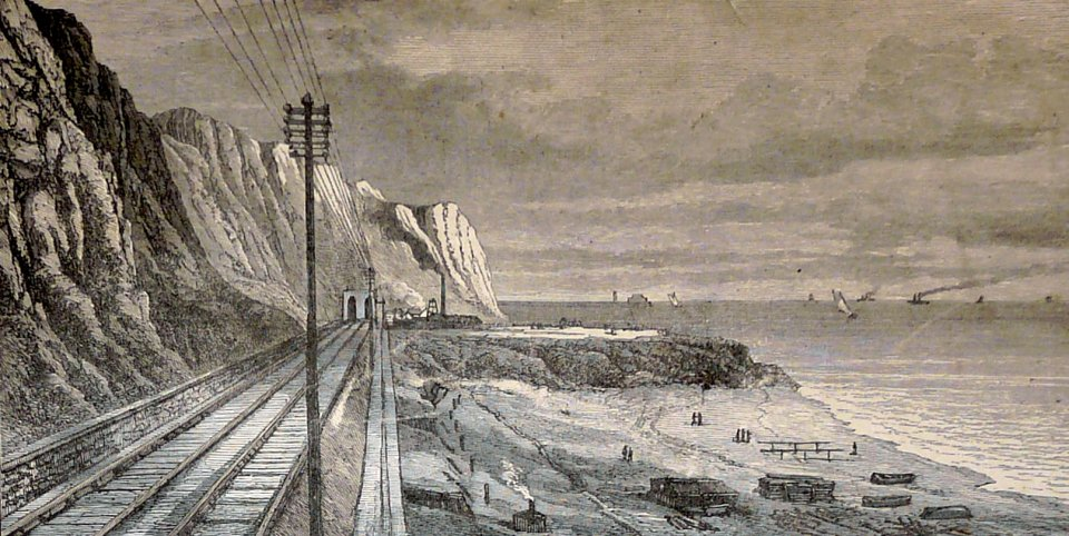 Coastal railway / Samphire Hoe site