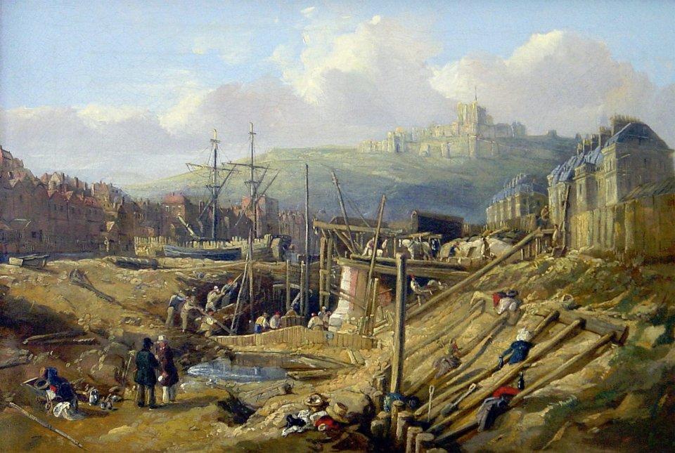 Construction of the Wellington Dock