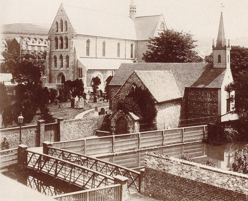Charlton Churches, old and new