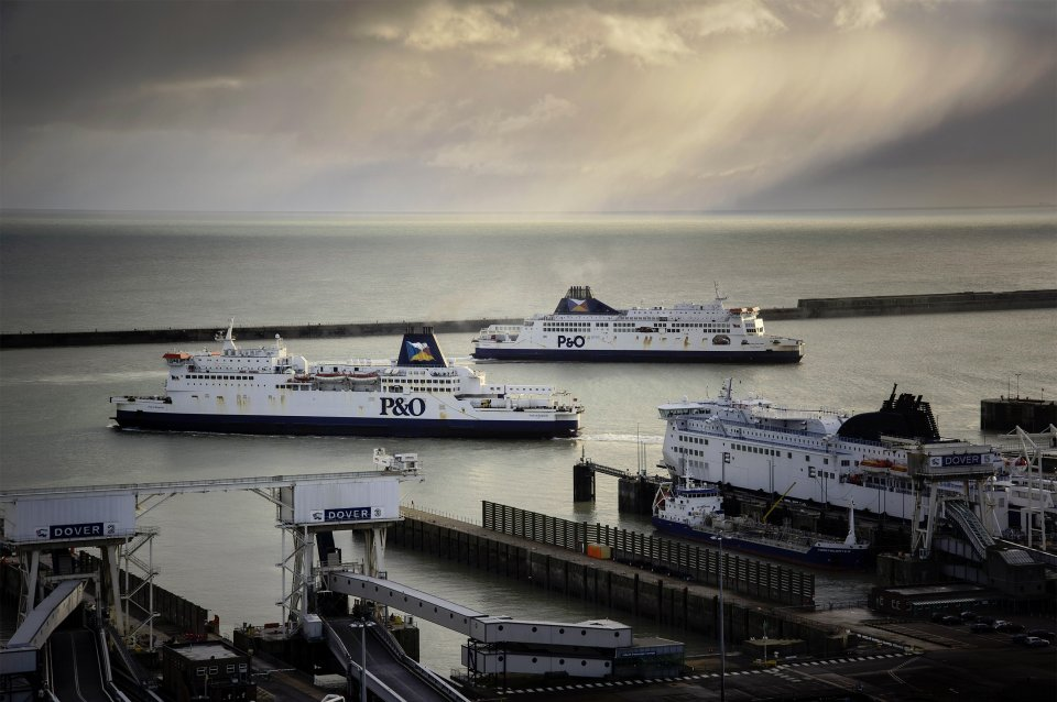 P&O Ferries in Dover Harbour