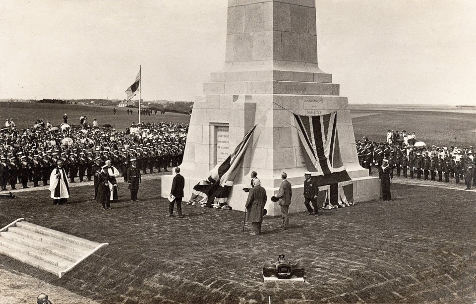 Unveiling of the Dover Patrol Memorial