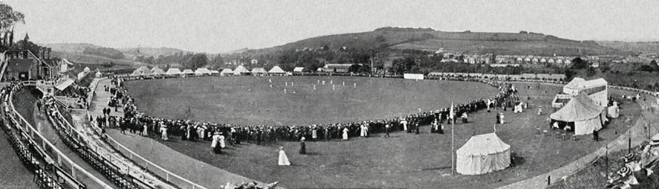 Cricket match at Crabble Athletic Ground