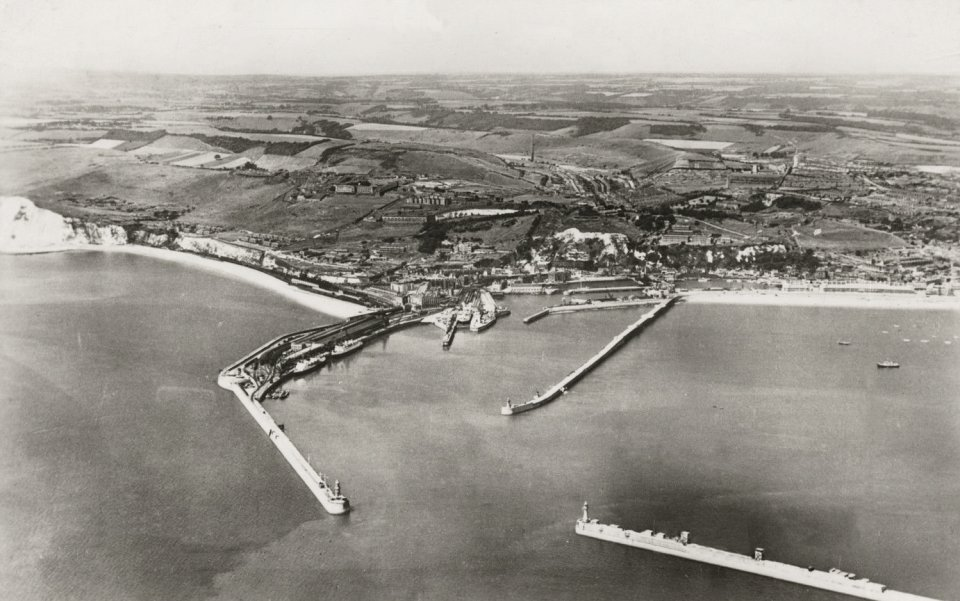 Dover Harbour from the air