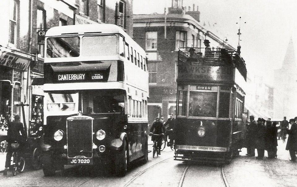 Biggin Street, bus and tram
