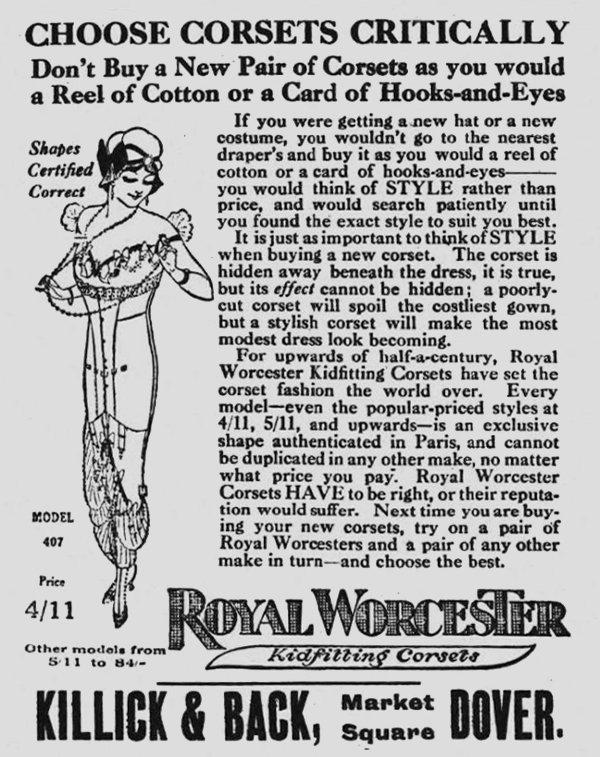 Killick & Back, newspaper advert