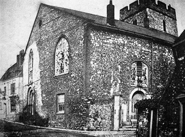 St James' Church before refurbishment
