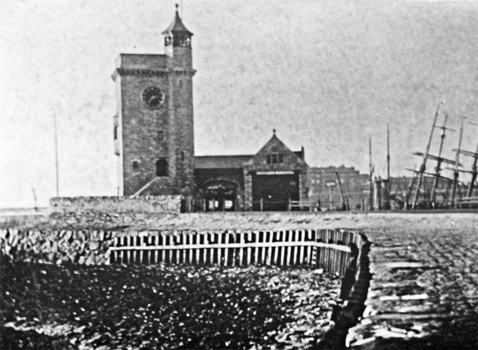 The Clock Tower and Lifeboat Station