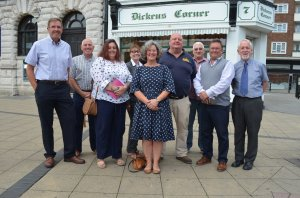 The trustees of LoveDover who are now working on plans for the future of Dickens Corner and are considering other properties which may be empty in the town centre.