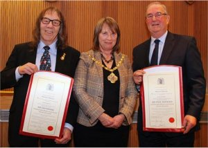 Paul Watkins and Jim Hood made Honorary Aldermen