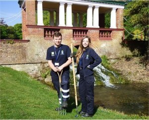 Apprentices take centre stage in Kearsney Parks restoration