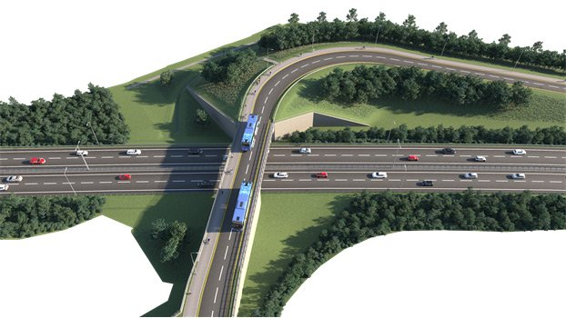 A new bus, cycle and pedestrian-only bridge will cross the A2 at Whitfield