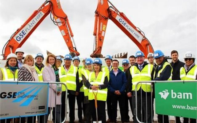 Ground breaking on new Dover District Leisure Centre