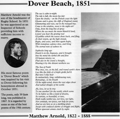 essays dover beach matthew arnold Page 2 analysis of dover beach essay matthew arnold's theme that religion and faith are an integral part of human nature and disregarding them will only.